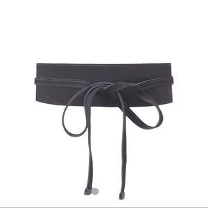 WHBM Suede OBI belt Black Size XS/S